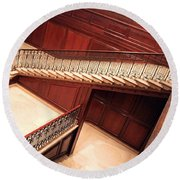 Corcoran Gallery Staircase Round Beach Towel