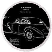 Cord Automobile Patent 1934 - Black Round Beach Towel