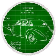 Cord Automobile Patent 1934 - Green Round Beach Towel