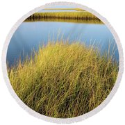 Cordgrass And Marsh, Southern Round Beach Towel