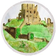 Corfe Castle Round Beach Towel