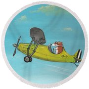 Corgi Aviator Round Beach Towel