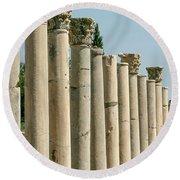 Corinthian Columns In Turkey Round Beach Towel
