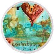 1 Corinthians 13 Round Beach Towel