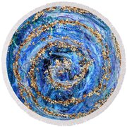 Coriolis 4 Round Beach Towel by Regina Valluzzi