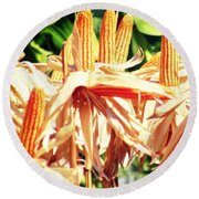 Corn Round Beach Towel