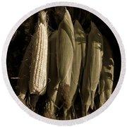 Corn On The Cob  Round Beach Towel