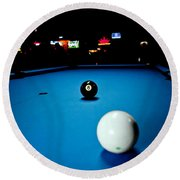 Corner Pocket Round Beach Towel