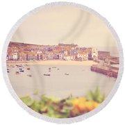 Cornish Harbour Round Beach Towel