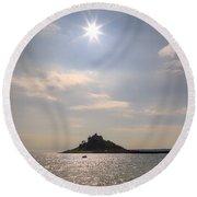 Cornwall - St Michael's Mount Round Beach Towel