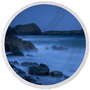 Cornwall Coast Round Beach Towel