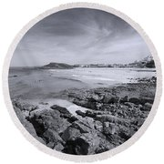 Cornwall Coastline 2 Round Beach Towel