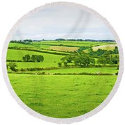 Cornwall Panorama Color Round Beach Towel