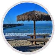 Corona Time Round Beach Towel
