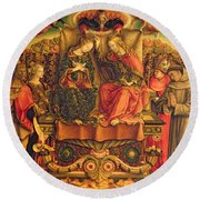 Coronation Of The Virgin Round Beach Towel