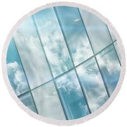 Corporate Flare Reflection Round Beach Towel