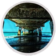 Corrosion Washed Round Beach Towel
