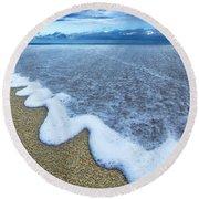 Corrugated Foam Round Beach Towel by Sean Davey