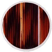 Corrugated Patterns In Orange And Black Round Beach Towel