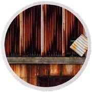 Corrugated Steel Mill Wall Alton Il Round Beach Towel