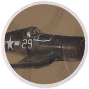 Corsair Triple Ace Round Beach Towel by Wade Meyers