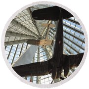 Corsairs In The National Marine Corps Museum In Triangle Virginia Round Beach Towel