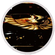 Trans Am Against Red Round Beach Towel