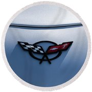 Corvette C5 Badge Round Beach Towel