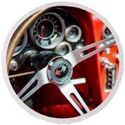 Corvette Steering Wheel Round Beach Towel
