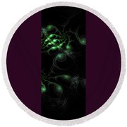 Cosmic Alien Eyes Original 2 Round Beach Towel