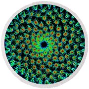 Cosmic Cacti In Spokane Round Beach Towel