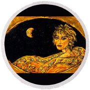 Cosmic Child Round Beach Towel