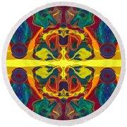 Cosmic Designs Abstract Pattern Artwork Round Beach Towel