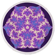 Cosmic Dragonfly Round Beach Towel
