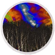 Cosmic Forces Round Beach Towel