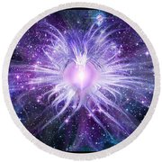 Cosmic Heart Of The Universe Round Beach Towel