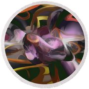 Cosmic Lightning Pastel Abstract Round Beach Towel