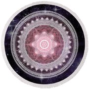 Cosmic Medallions Fire Round Beach Towel