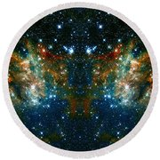 Cosmic Phoenix  Round Beach Towel