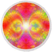 Cosmic Spiral Ascension 02 Round Beach Towel