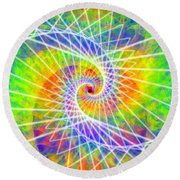 Cosmic Spiral Ascension 03 Round Beach Towel