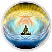 Cosmic Spiral Ascension 04 Round Beach Towel