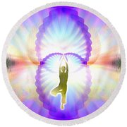 Cosmic Spiral Ascension 07 Round Beach Towel