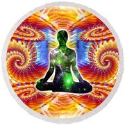 Cosmic Spiral Ascension 10 Round Beach Towel