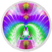 Cosmic Spiral Ascension 13 Round Beach Towel