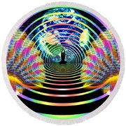 Cosmic Spiral Ascension 16 Round Beach Towel