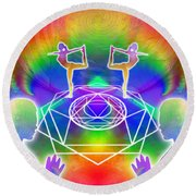 Cosmic Spiral Ascension 17 Round Beach Towel