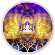 Cosmic Spiral Ascension 18 Round Beach Towel