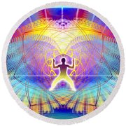 Cosmic Spiral Ascension 20 Round Beach Towel