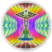 Cosmic Spiral Ascension 21 Round Beach Towel